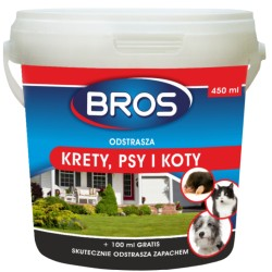 BROS Odstrasza krety, psy i koty, 350 ml + 100 ml gratis
