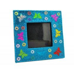 Kwadratowa ramka na zdjęcie w motyle 5x5 cm