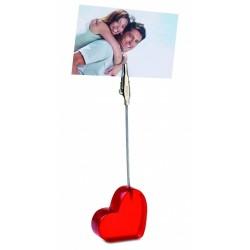 Stojak serce na zdjęcie z klipsem
