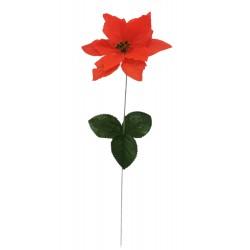 Kwiat sztuczny gwiazda betlejemska pojedyncza