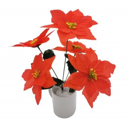 Kwiat sztuczny gwiazda betlejemska 5 koron