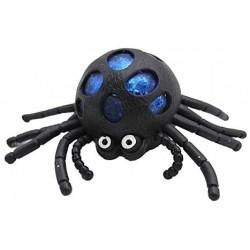 Gniotek gumowy antystresowy pająk kulki żelowe