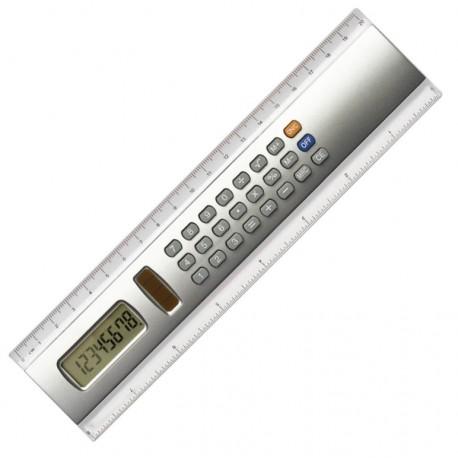 Plastikowa linijka 20 cm z kalkulatorem 2 w 1 + bateria