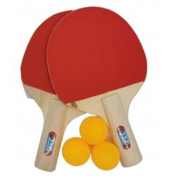 Zestaw rakietek do tenisa stołowego + 3 piłeczki