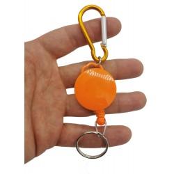 Brelok karabińczyk z linką do kluczy breloczek retraktor