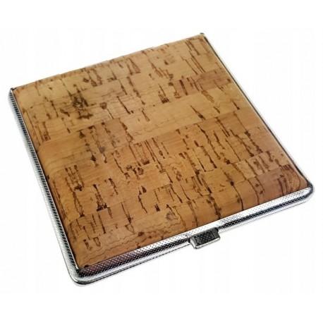 Papierośnica metalowa korkowa 6-0153