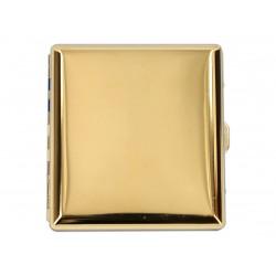 Papierośnica metalowa złota 6-0189