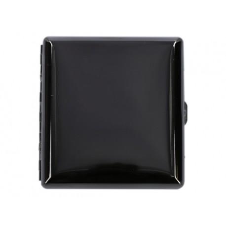 Papierośnica metalowa czarny połysk 6-0188