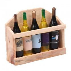 Magnes ozdobny na lodówkę półka z winem