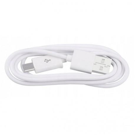 Kabel Micro USB, ładowarka, czarny i biały, 80 cm