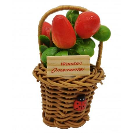 Magnes ozdobny na lodówkę koszyczek z owocami