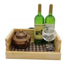Magnes ozdobny na lodówkę taca z winem