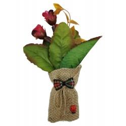 Magnes ozdobny na lodówkę woreczek z kwiatkami