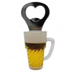 Magnes na lodówkę kufel do piwa z otwieraczem