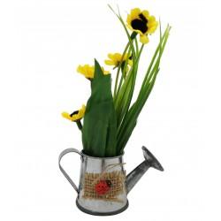 Magnes ozdobny na lodówkę konewka z kwiatami