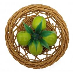 Magnes na lodówkę koszyk wiklinowy z owocami