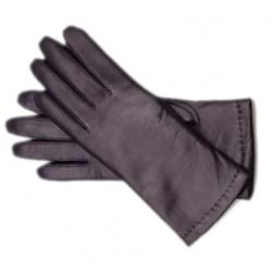 Rękawiczki damskie skórzane ocieplane, mix kolorów