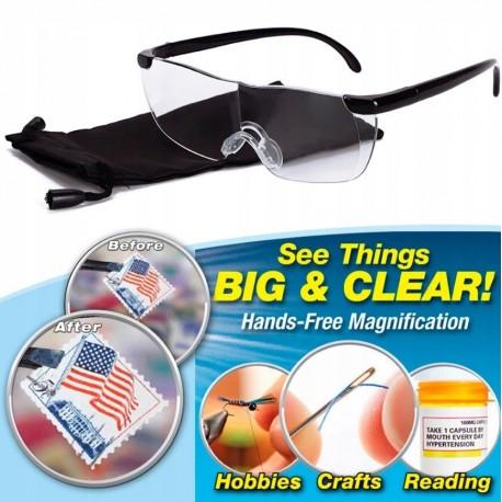 Okulary powiększające Big Vision 160% zoom lupa