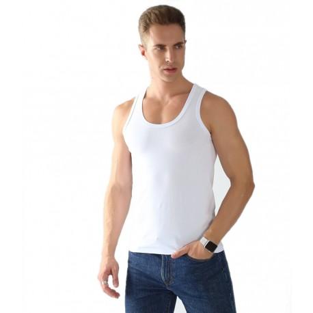 Podkoszulka na ramiączkach męska biała