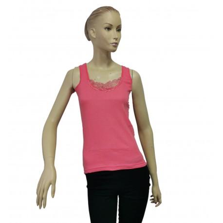 Podkoszulka damska bawełniana na ramiączkach szara - L