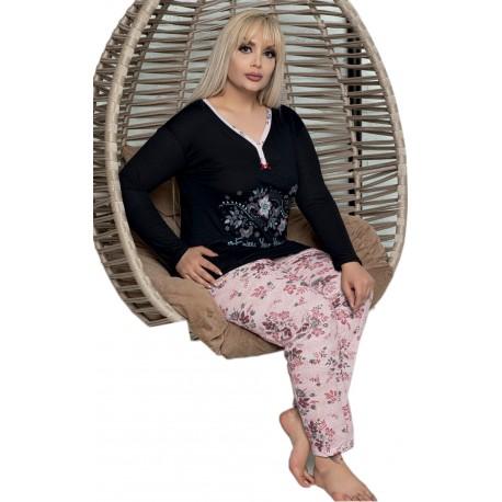 Piżama damska bawełniana dla puszystej r.XL