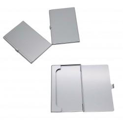 Etui na wizytówki karty metalowe srebrne