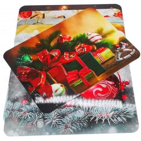 Mata stołowa świąteczna mix wzorów laminowana