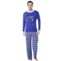 Piżama męska bawełniana dł.rękaw - r.L