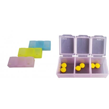 Pudełko na tabletki, pojemnik podróżny na leki rano wieczór
