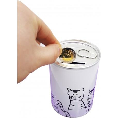 Skarbonka puszka metalowa koty kot