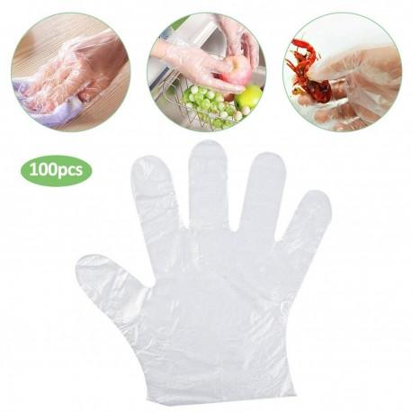 Rękawiczki foliowe ochronne zrywki 100 sztuk