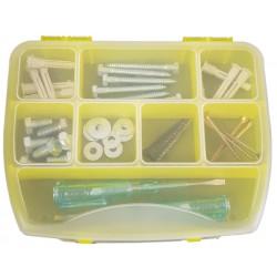 Organizer pojemnik pudełko na śrubki drobiazgi ŻÓŁTY - 8 przegródek
