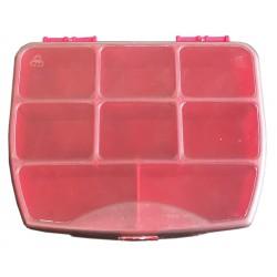 Organizer pojemnik pudełko na śrubki drobiazgi MINI CZERWONY - 8 przegródek