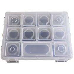 Organizer pojemnik pudełko na śrubki drobiazgi - 11 przegródek