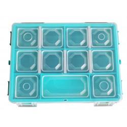 Organizer pojemnik pudełko na śrubki drobiazgi TURKUS - 11 przegródek