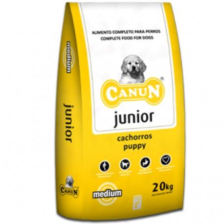 Karma dla psa Canun Junior 20kg dla młodych psów z kurczakiem(30%), ryżem i witaminami