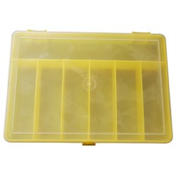 Organizer pojemnik pudełko na śrubki drobiazgi ŻÓŁTY - 7 przegródek