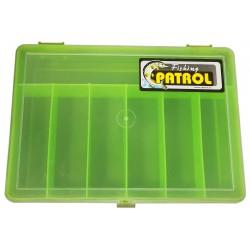 Organizer pojemnik pudełko na śrubki drobiazgi ZIELONY - 7 przegródek