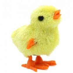 Kurczak nakręcany z futerkiem skaczący wielkanocny