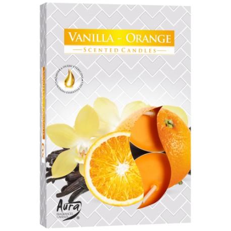 Podgrzewacze świeczki Wanilia-Pomarańcza 6 sztuk