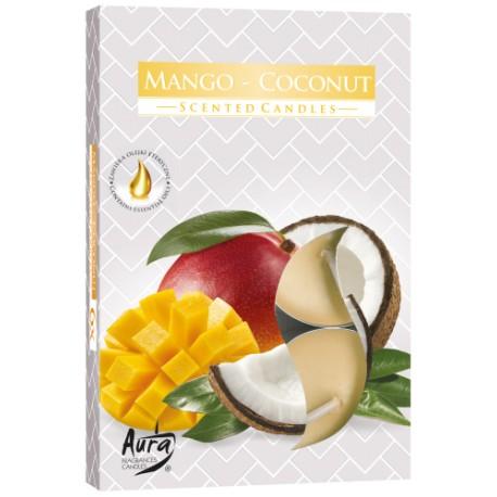 Podgrzewacze świeczki Mango-kokos 6 sztuk