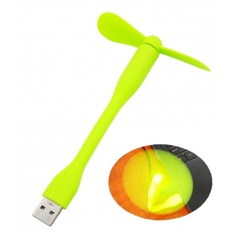 Wiatraczek silikonowy USB wentylator wiatrak ZIELONY