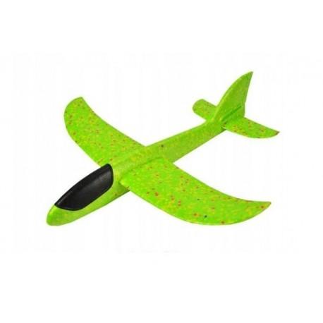Piankowy samolot styropianowy duży ZIELONY
