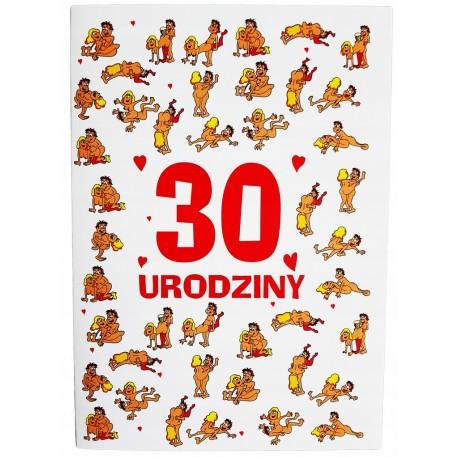 Duża kartka na 30 urodziny dla faceta