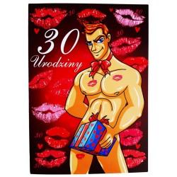 Duża kartka na 30 urodziny dla kobiety