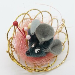 Myszka mysz dekoracyjna ozdoba