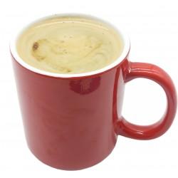 Kubek ceramiczny na herbatę kawę CZERWONY