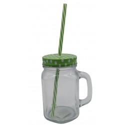 Kubek szklany bez słomki, słoik do picia ice cold drink MIX