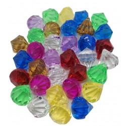 Szklane kulki kamyczki dekoracyjne 34szt