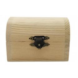 Drewniany kuferek szkatułka na drobiazgi